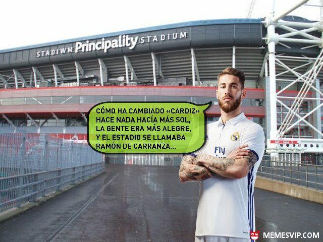 Sergio Ramos se despista en Cardiff meme #meme #momo #memes #chiste #chistes #humor #fun #funny #español #laugh #risa #divertido #ramos #sergio #sergioramos #real #madrid #realmadrid #atleti #barcelona #cadiz #carranza #futbol #cardiff #2017