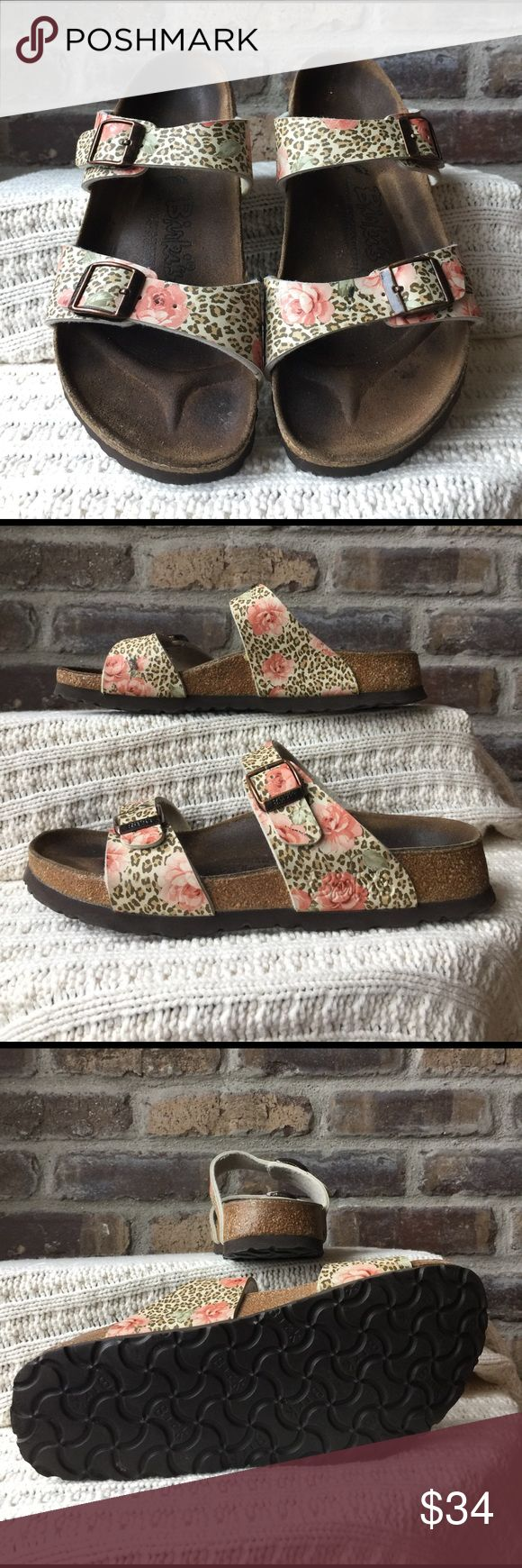 Birkis by Birkenstocks Women's size 5/35 Birkis by Birkenstocks. The foot is filled in so they are normal width. They have been worn but still have a lot of life left Birkenstock Shoes Sandals
