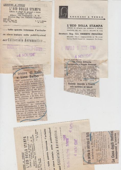 Ritaglio Storico del 1940