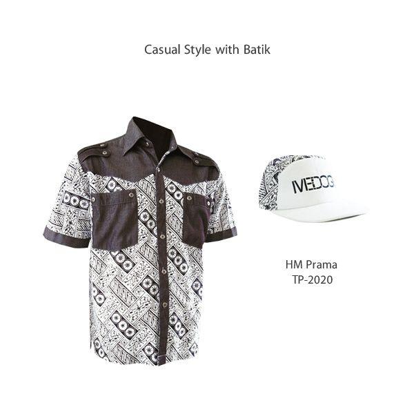 Casual Style with Batik  #kemejabatikmedogh #topibatikmedogh  http://medogh.com/baju-batik-pria/kemeja-batik-pria/Kemeja-Batik-HM-Prama