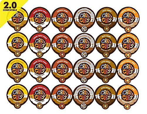 Crazy Cups Coffee Flavor Lovers Single Serve Cups Variety Pack Sampler for the K Cup Brewer, 24 count - http://teacoffeestore.com/crazy-cups-coffee-flavor-lovers-single-serve-cups-variety-pack-sampler-for-the-k-cup-brewer-24-count/