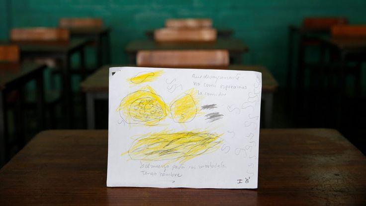 Βενεζουέλα: Τα παιδιά ζωγραφίζουν τι έφαγαν κατά τη διάρκεια της ημέρας