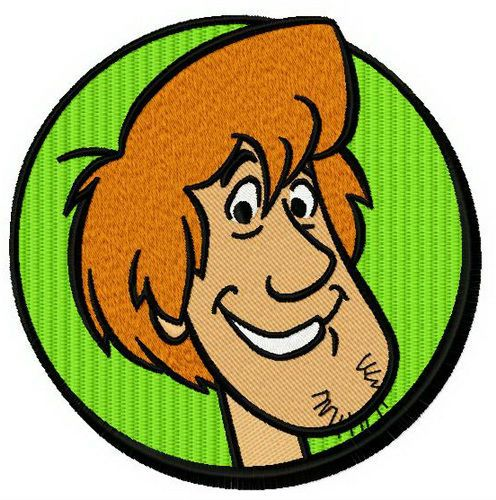 Shaggy Rogers machine embroidery design