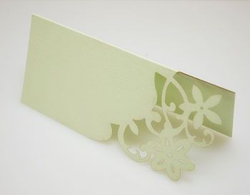 10 Hot Wedding Trends for 2013--#5 Laser Cuts: Escort Cards or Place Cards  (www.3d-memoirs.com) #laser_cuts #weddings