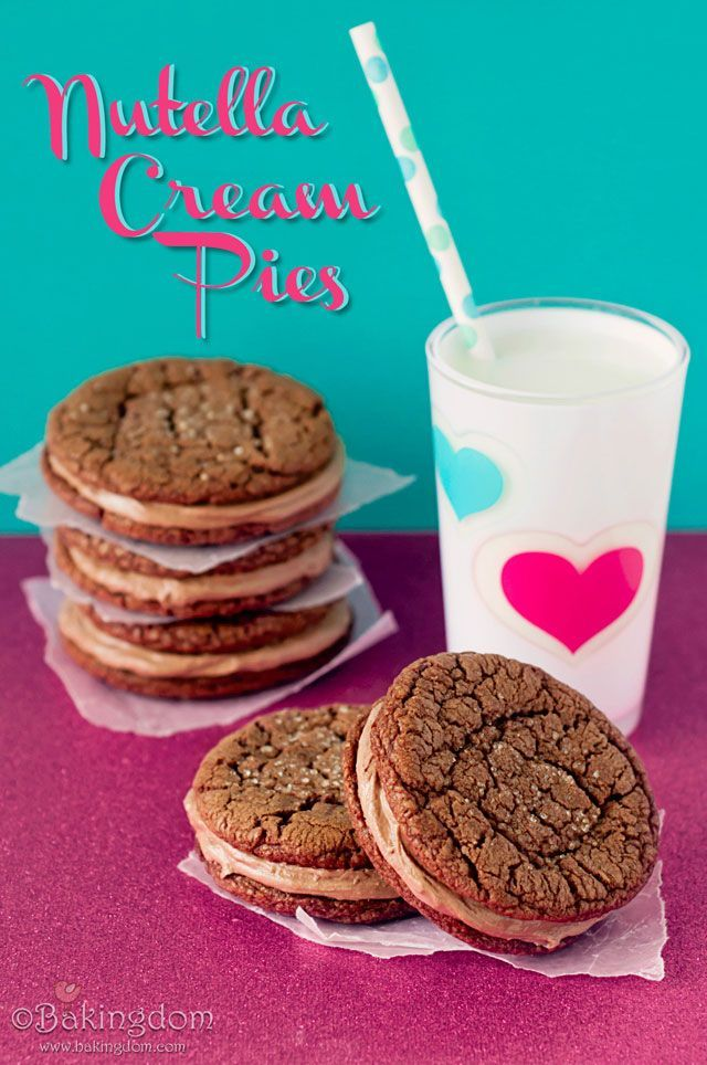 Nutella Cream Pie Cookies - A Nutella lovers dream!