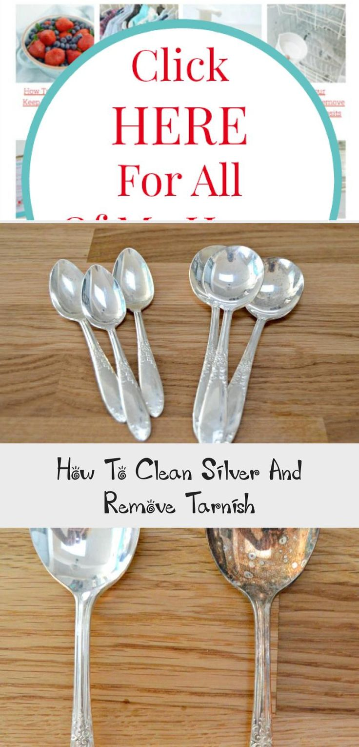 How To Clean Silver And Remove Tarnish in 2020   How to ...