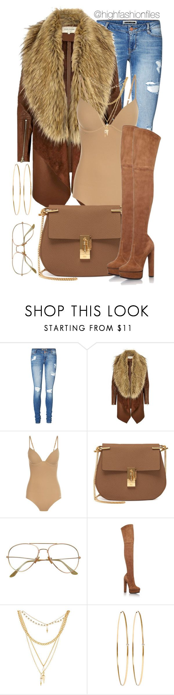 """Feeling Vintage"" by highfashionfiles ❤ liked on Polyvore featuring Vero Moda, River Island, Chloé, Casadei, Ettika, Jennifer Meyer Jewelry and vintage"