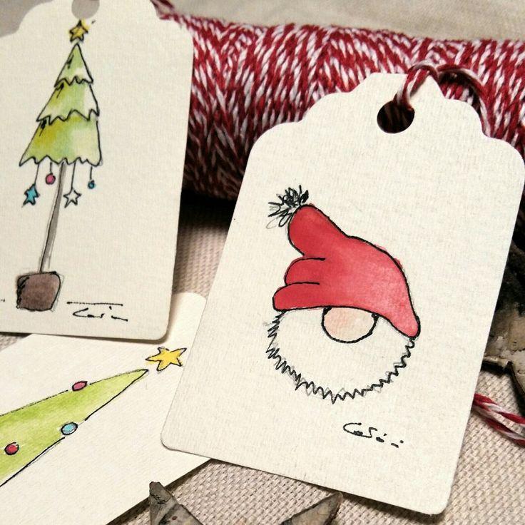Biglietto natalizio Christmas card watercolor