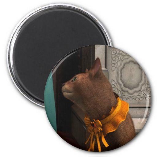 Abissinian Cat 1 Refrigerator Magnet