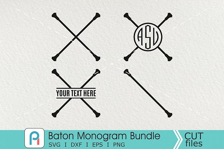 Download Baton Monogram Svg Baton Svg Baton Clip Art Baton Vector Monogram Svg Svg Monogram