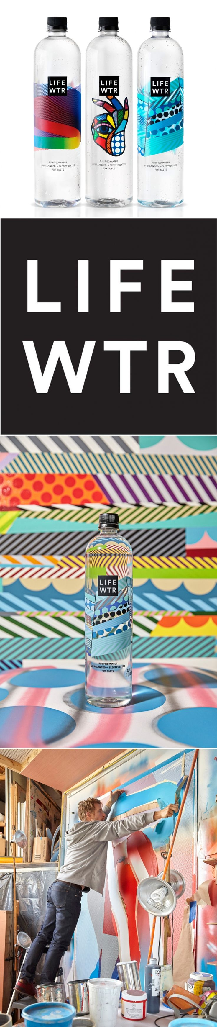 Pepsico Collaborates with Artists on their New Brand LIFEWTR — The Dieline - Branding & Packaging Design