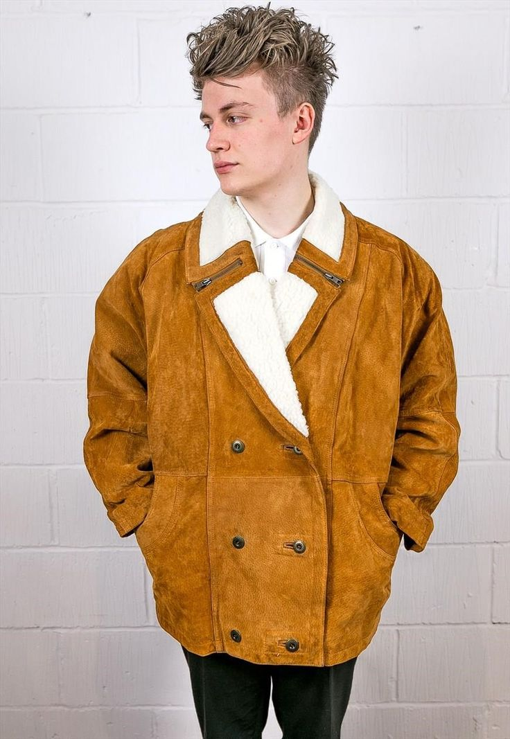 Vintage Leather Shearling Aviator Jacket | Thrifty Greg | ASOS Marketplace