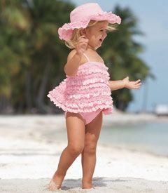 ruffled swimsuit: Ruffle Dipped Tankini, Chasing Fireflies, Girl, Stuff, Pink Ruffle Dipped, The Beach, Kid