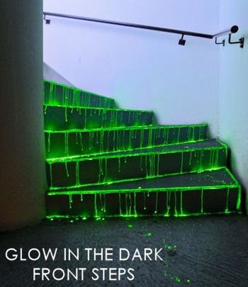 glow in the dark front steps 5 halloween party dcor ideas for