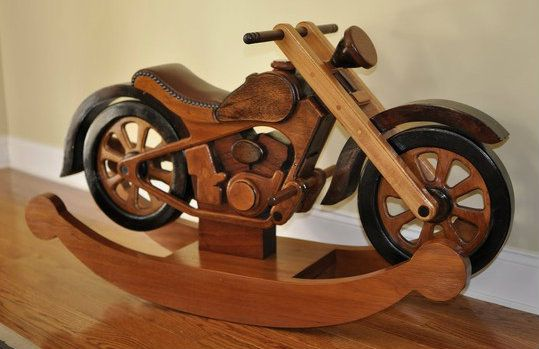 Motorcycle rocker plans free woodworking projects plans for Woodworking plan for motorcycle rocker toy