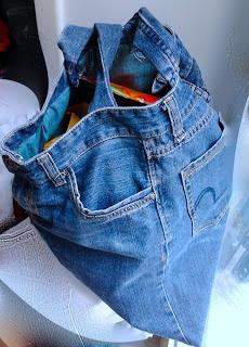 big bag made of jeans