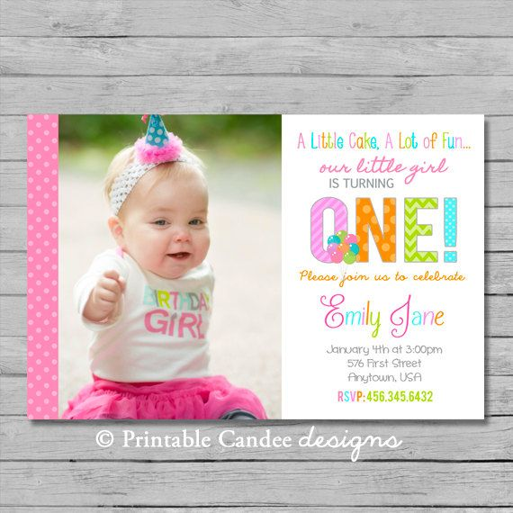 16 best 1st Birthday Ideas images on Pinterest Baptism ideas - invitation for 1st birthday party girl