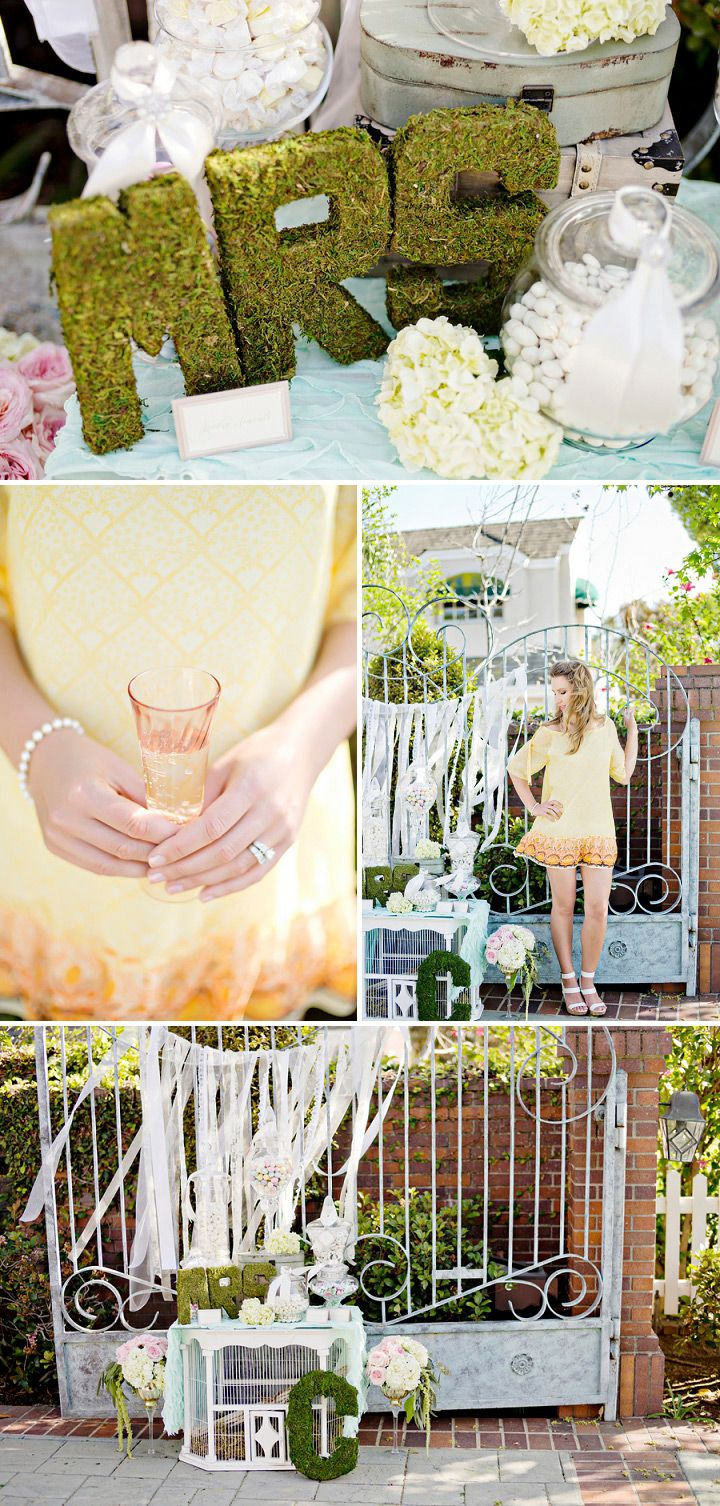 bridal shower themes for spring%0A Summer Bridal Shower Tea Party Inspiration