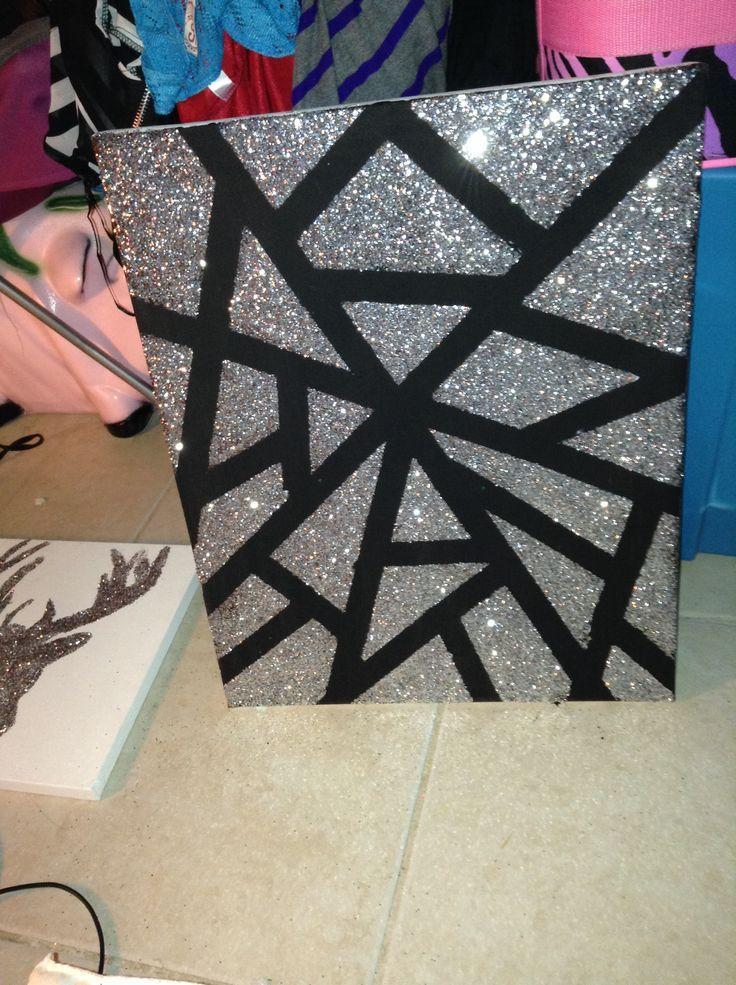 Glitter Canvas Glitter Art Diy Canvas Canvas