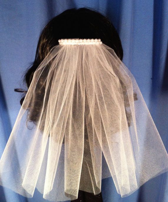 Single Tier Wedding or Communion Veil Hair Comb by JLOSpecialties