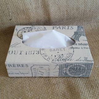 Arte lá em casa: Caixa para Lenço de Papel - Paris