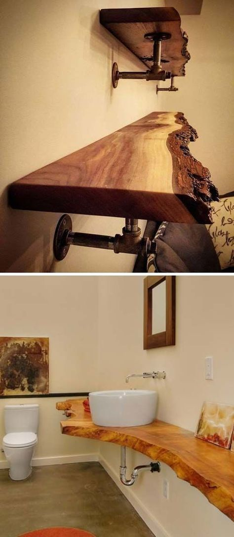 top 20 cool decorating ideas with live edge wood home decor home rh pinterest com