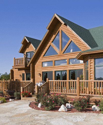 30 best hybrid log homes 1 2 log siding images on E log siding