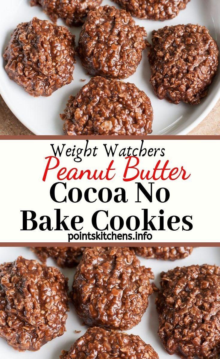 Biscuits sans cuisson au cacao et au cacao   – Watchers