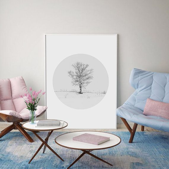 Tree Print Landscape Print Tree Decor Scandinavian by FoxStudioCo