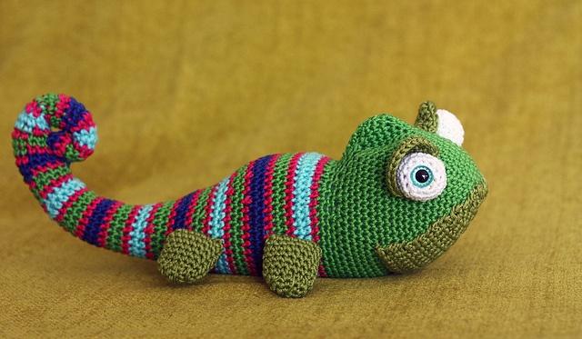 Amigurumi Chameleon Pattern : Die besten 17 Bilder zu Crochet - K - AA - Reptiles auf ...