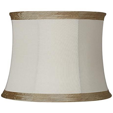 The 211 best lamp shades images on pinterest lamp shades ivory linen with taupe trim lamp shade 14x16x12 spider mozeypictures Image collections