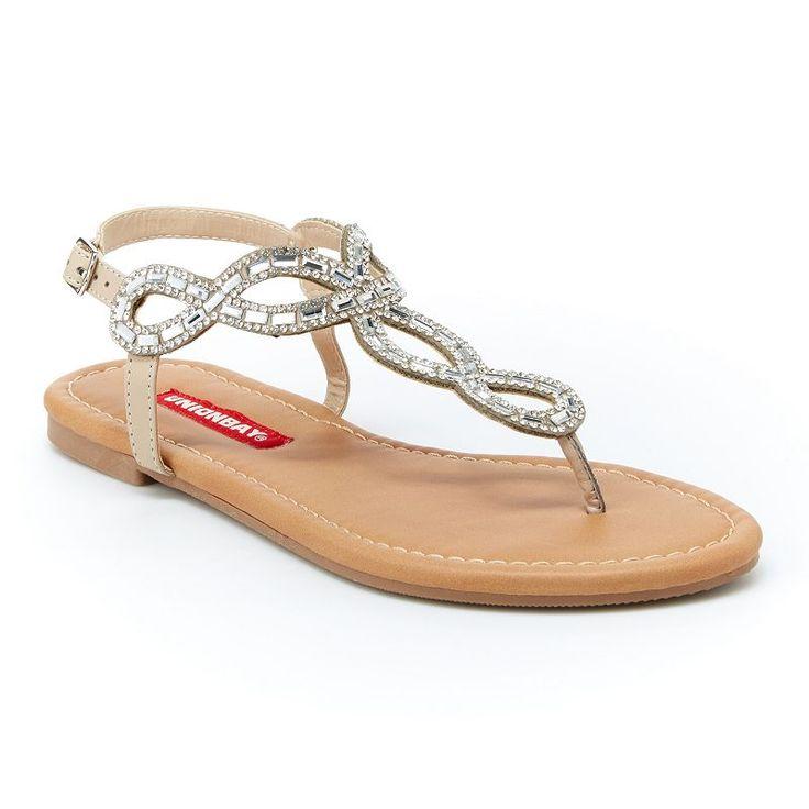 Unionbay Swirl Women's Slingback Sandals, Girl's, Size: 8.5, Silver