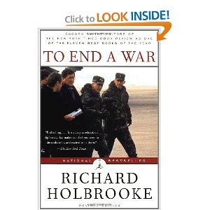 """to end a war,"" richard holbrooke"