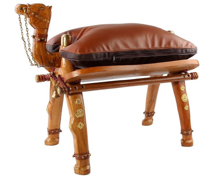 "Табурет-пуф ""Верблюд"" - дерево манго - коричневый, 50х70х35 | Westwing Интерьер & Дизайн"