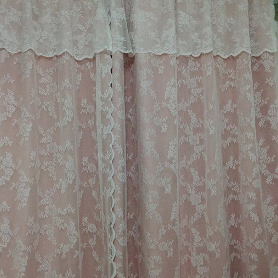Shabby Chic Fairy Tale Double Layer With Valance Little Rose