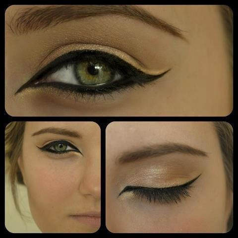 Love this exotic golden eye makeup from Wedding Makeup by Candee Caldwell