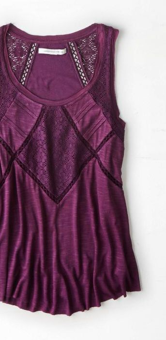 Plum Wine Tank Top - love the color and the detail. Would look super cute for date night, or for work under a blazer.