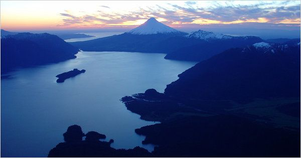 todos los santos lake and osorno volcano