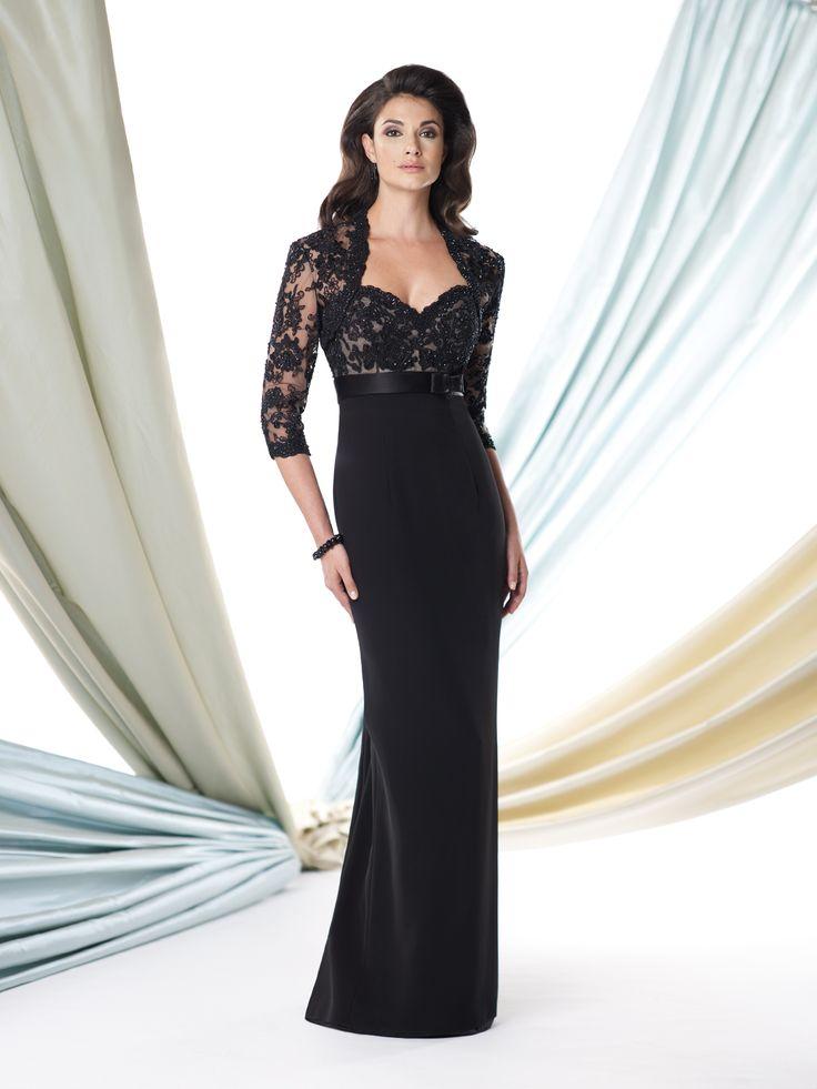 Black empire waist lace dress