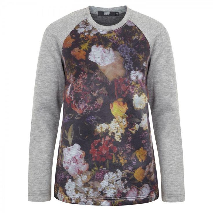 Woodland floral jersey sweatshirt_MULT_L