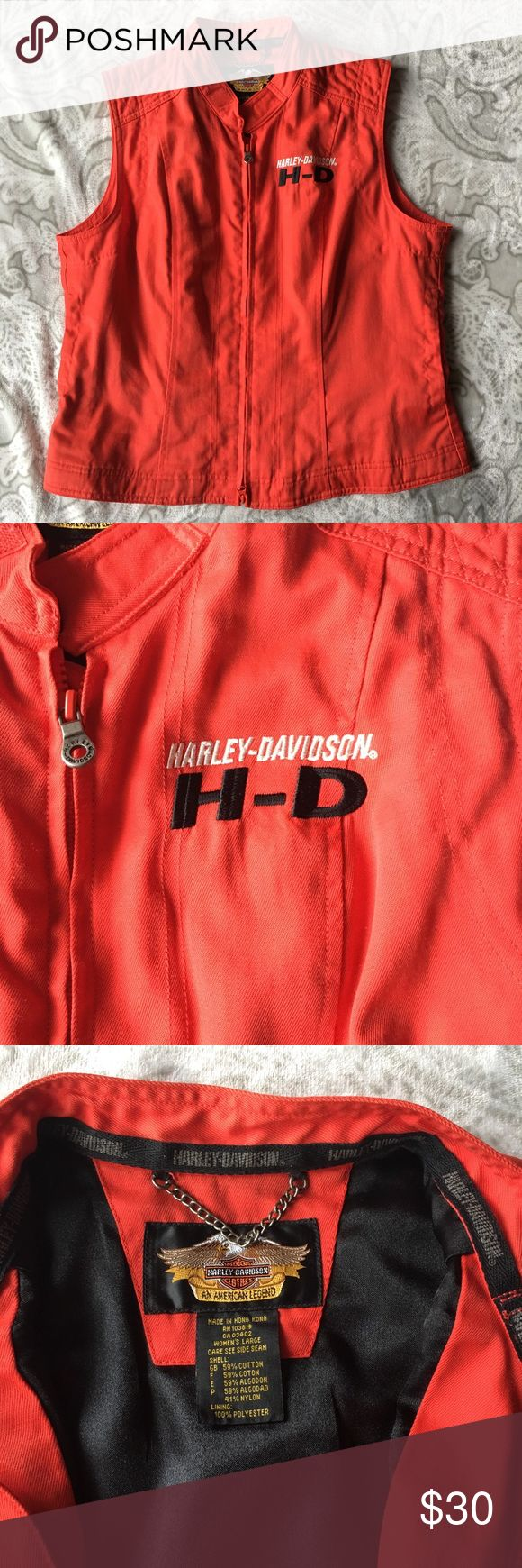 Harley Davidson vest Red riding vest with zipper. Like brand new. No holes or stains. Harley-Davidson Jackets & Coats Vests