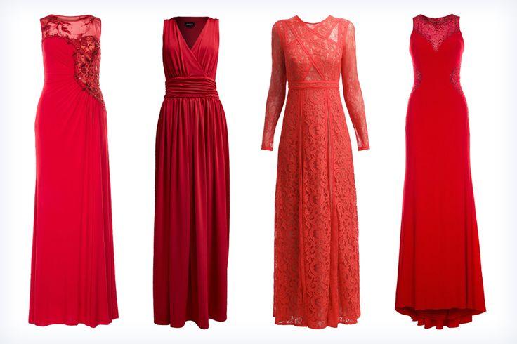 Stylowe długie czerwone suknie na studniówkę