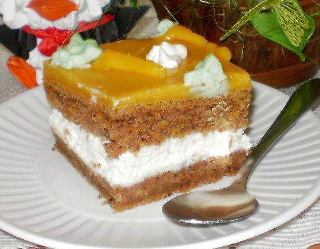 Ciasto marchewkowe z kremem mascarpone i marchewkowym budyniem-pyszne, wilgotne,zdrowe.
