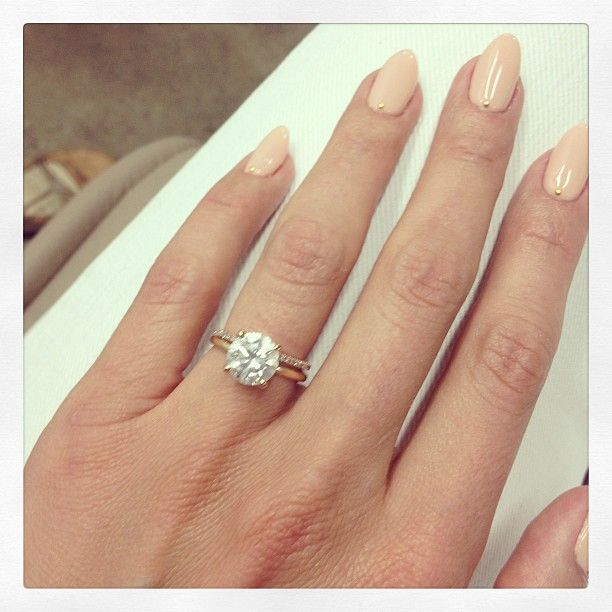 Cat Deeley engagement ring. Thin wedding band. ; I love it! Just maybe a thicker wedding band and all sliver ring.