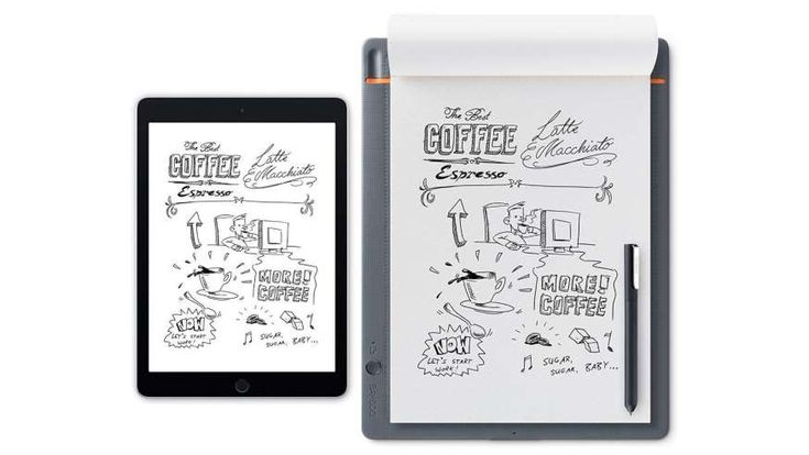 The 100 Coolest Tech Gadgets of 2017  -  October 4, 2017: WACOM BAMBOO NOTEPAD -   The Wacom Bamboo Notepad is a nifty gadget that uses regular paper, and it instantly sends notes or drawings to the user's smartphone or tablet. There's even an option to search for sketched words via a mobile device.