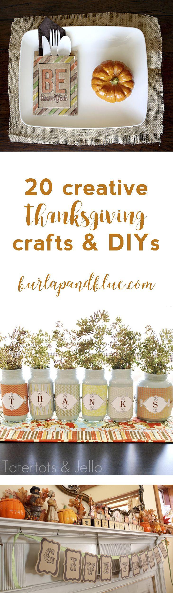 20 creative thanksgiving tutorials and crafts