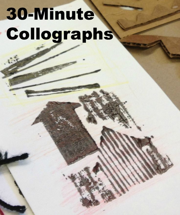 30 minute collograph lesson plan from San Diego's New Children's Museum