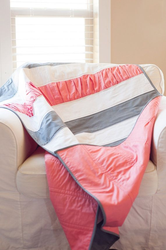 The Ruffle Quilt Baby Girl. By: The Vintage Clothespin. It's the perfect size for baby and toddler. Fits both bed sizes!