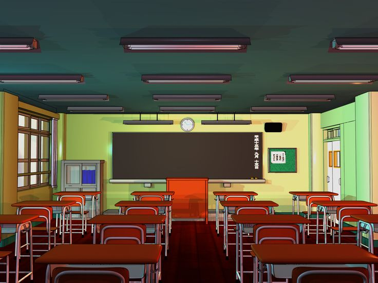 Anime Background - Classroom by FireSnake666.deviantart.com on @DeviantArt