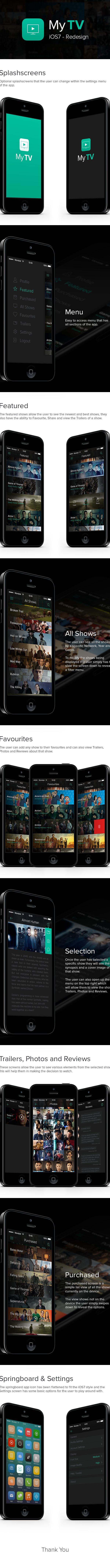 MyTV - iOS7 Concept on Behance